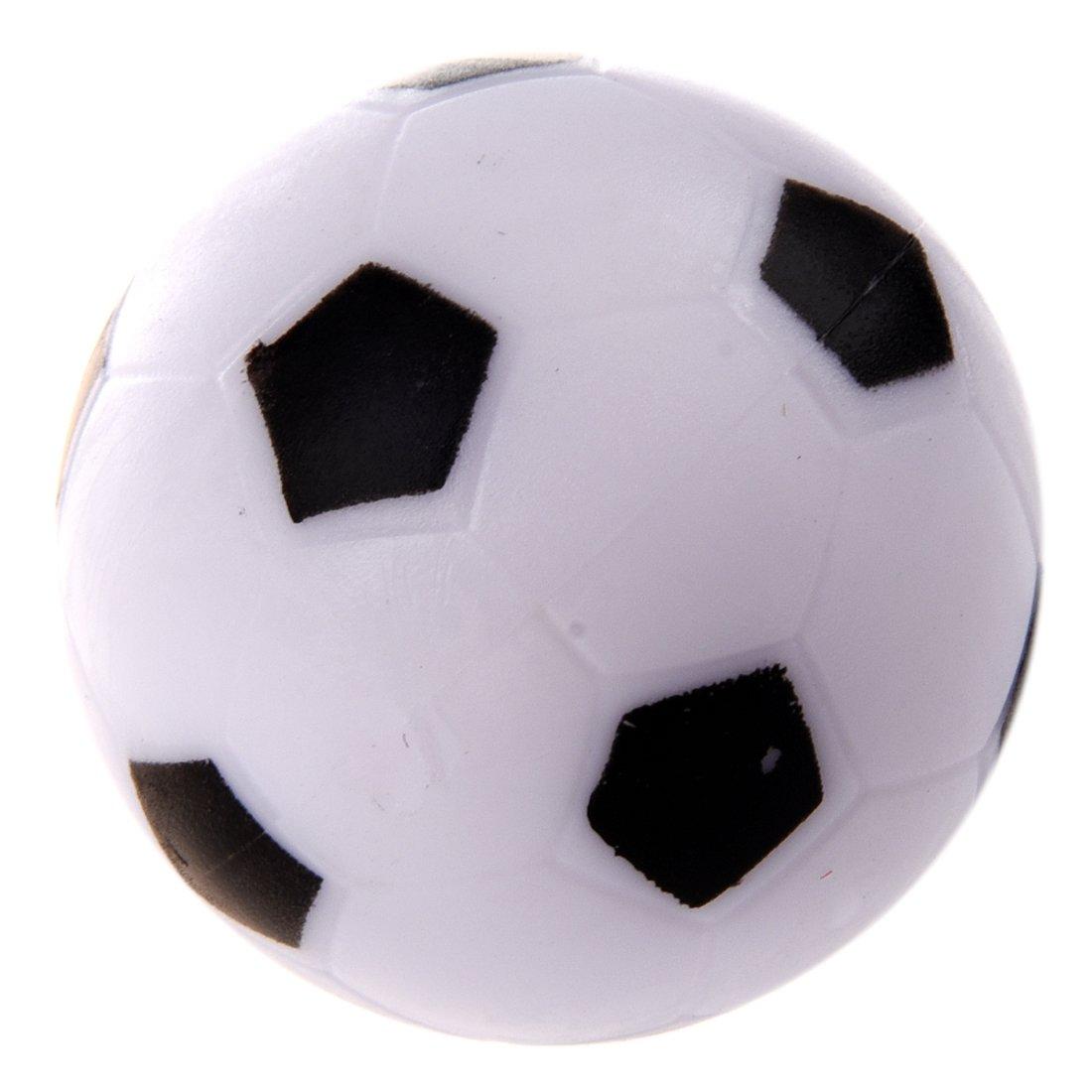 JVSISM Futbolin Pequeno de Futbol Bola de plastico Duro de Mesa Juguete de ninos Blanco Negro: Amazon.es: Juguetes y juegos