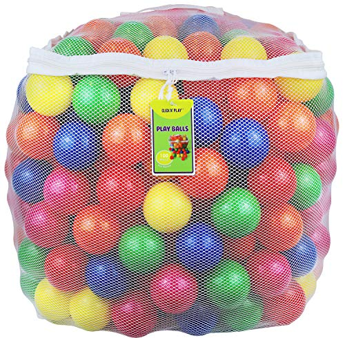 Click N' Play Pack of 100 Phthalate Free BPA Free Crush Proof Plastic Ball, Pit...