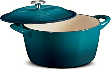 Tramontina Enameled Cast Iron 6.5-Quart Covered Round Dutch Oven
