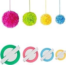 Pom pom Maker, 4 Sizes Pom-pom Maker Fluff Ball Weaver Needle Craft DIY Wool Knitting Craft Tool Set for Kids and Adult (4)