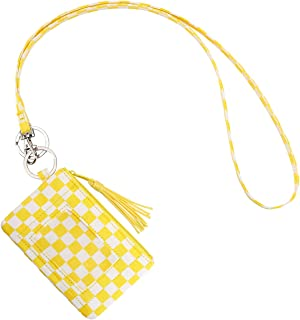 Tassel Zip ID Case Wallet with Lanyard for Students Badge Holder Lanyards for Office