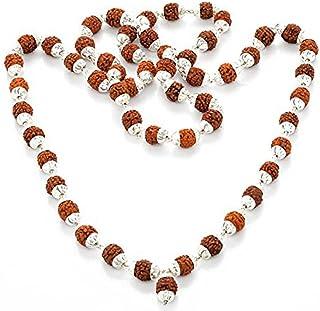Navkaar Creation Rudraksha Japa Mala 108 1 Cuentas de oraci/ón de la Mejor Calidad