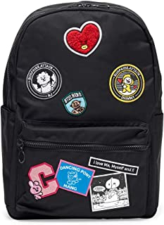 BT21 Official Merchandise by Line Friends - Wappen Backpack, Black