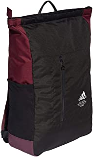 adidas Unisex Classic Top-zip Backpack, Black/Maroon/White