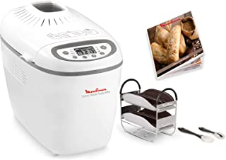 Moulinex OW610110 Home Bread Baguette Machine à Pain, 1650 W, 1.5 kilograms, Blanc