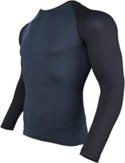Tight-Fitting Training Suit Long-Sleeved Bottoming Shirt Fitness Sports Basketball Round Neck Quick-Drying Breathable Elas...