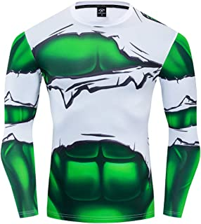 The Incredible Hulk Men's 3D Printed Compression Sport Fitness T-Shirt