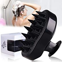 Hair Scalp Massager, BEAUTLOHAS. Shampoo Brush, Scalp Scrubber and Dandruff Brush for Scalp Care Hair Cleaning Shower, Neck and Body Massager, Soft Silicone Comb for Men, Women, Kids and Pets (Black)