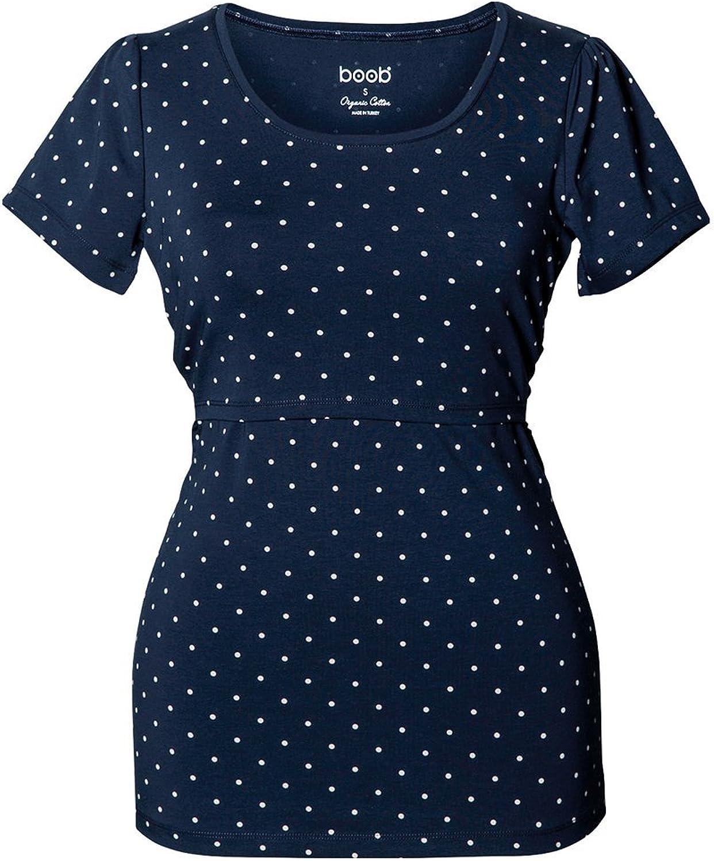 Boob Maternity Nursing Short Sleeve Dot Top