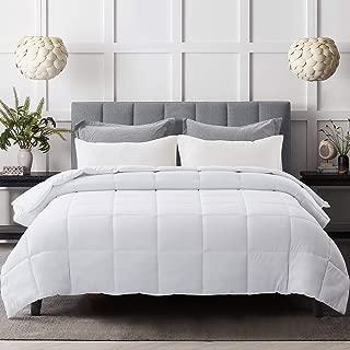 Lightweight Stand Alone Comforter Soft White Duvet Insert Down Alternative Comforter Queen Comforter All Seasons Cooling Duvet Insert with Corner Tabs (Duvet Insert Queen/Full)