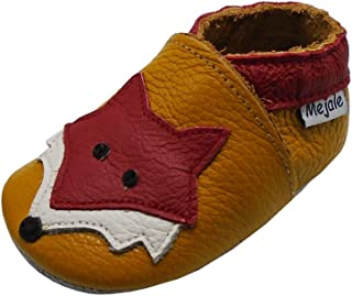 Baby Shoes Soft Sole Leather Crawling Moccasins Cartoon Fox Infant Toddler First Walker Slippers
