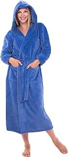 Women's Plush Fleece Robe with Hood, Warm Bathrobe Small...