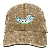 jhgfd7523 Unisex Sandía Semillas Splash Dad Sombreros Casquette Denim Algodón Gorra De Béisbol Sombrero Natural
