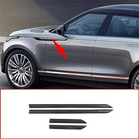 CHEYA Carbon Fiber Style ABS Car Side Fender Cover Trim Strip for Land Rover Range Rover Velar 2017 2018 Car Accessories
