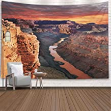 Sertiony Wall Decor Tapestry,Colorful Tapestry Wall Hanging 80X60 Inches Canyon Arizonathe Canyon is a Steepsided Carved Colorado River State Arizona Wall Tapestry for Bedroom