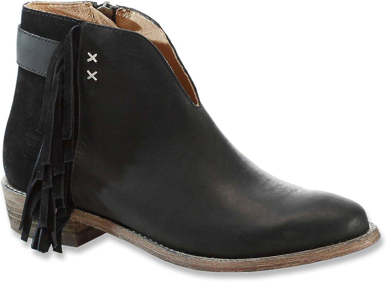 KOOLABURRA Womens Dallas Leather Fringe Ankle Boots