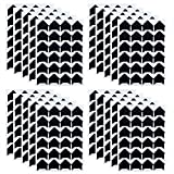 480 PCS Self-Adhesive Acid Free Paper Photo Mounting Stickers Corners for Scrapbooking Album Dairy (Black)