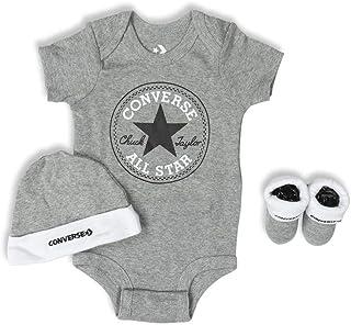 Converse Baby Girls All Star Bodysuit, Hat & Socks 3 Piece Set