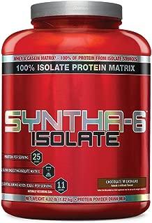 BSN SYNTHA-6 Isolate Protein Powder, Chocolate Milkshake, 4.02 lb (48 Servings)