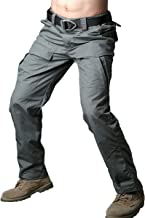 CARWORNIC Gear Men's Tactical Cargo Pants Waterpoof Lightweight Rip Stop EDC Military Combat Trousers