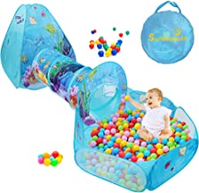 SUNBA YOUTH Kids Ball Pit, Crawl Tunnel and Play Tent, Pop Up Playhouse for Girls and Boys, Babies and Toddlers. Knight Ca...