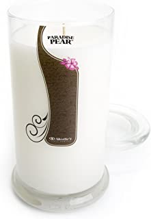 Paradise Pear Candle - Large White 16.5 Oz. Highly Scented Jar Candle - Made with Natural Oils - Fruit & Berry Collection