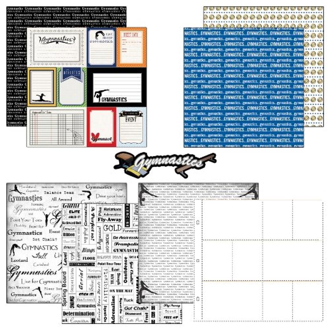 Scrapbook Customs Themed Paper and Stickers Scrapbook Kit, Gymnastics Journal
