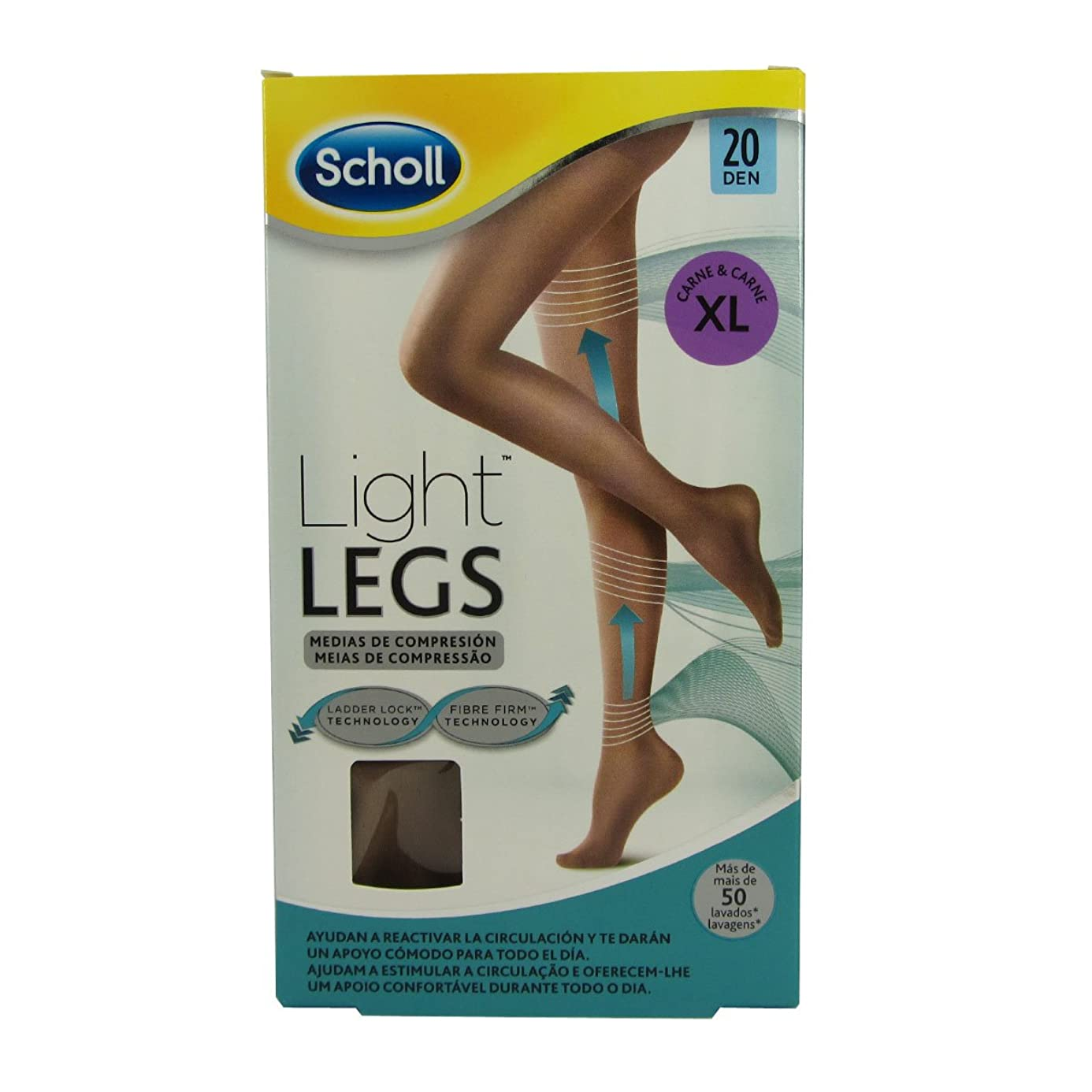 ソーシャルトラフドナーScholl Light Legs Compression Tights 20den Skin Extra Large [並行輸入品]