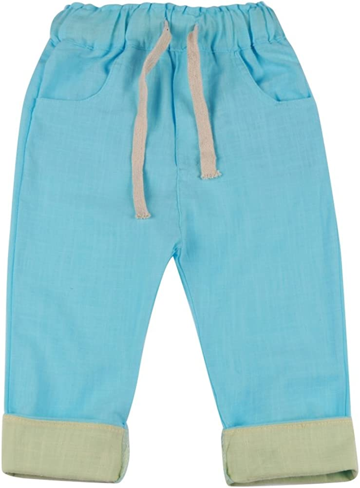 Weixinbuy Kids Boys Casual Pencil Pants Solid Color Straight Trousers