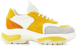 LARS MOLLER Women's 4311SH01YELLOW Multicolor Suede Sneakers