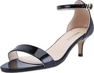 SHOESFEILD Women's Chunky Block Heels Open Toe Ankle Strap High Heel Dress Sandals