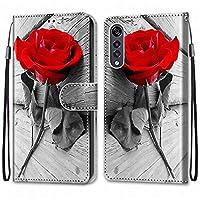 Laybomo LG Velvet/LM-G910EMW ケース カバー 手帳型, [カードスロット]および[キックスタンド]付きの磁気閉鎖完全保護設計ウォレットフリップ 財布型カバー対応 LG Velvet/LM-G910EMW電話ケース, 塗る 4