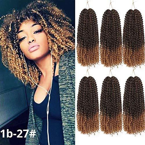 SHIM 8inch 30g Les Cheveux de Marley Crochet Ombre tisse des Extensions de Cheveux synthétiques pour Les Femmes Violet Noir Rose 5pcs