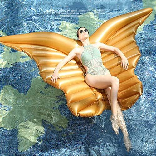 Geng Aufblasbare Pools Pool riesigen aufblasbaren Schmetterling Pool Float Lounger Luftmatratze Schwimm Ring Wasser-Sommer-Party (Color : Gold, Size : 180CM)