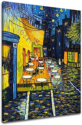 Zdjęcia Do Salonu Nowoczesne 100% Ręcznie Malowane Obrazy Olejne Van Gogh Taras Kawiarni Na Miejscu Du Forum Obrazy Na Płótnie Wall Art Do Salonu