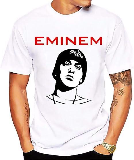 Camiseta Rapper Eminem Impreso Casual Camiseta Unisex Camisa ...