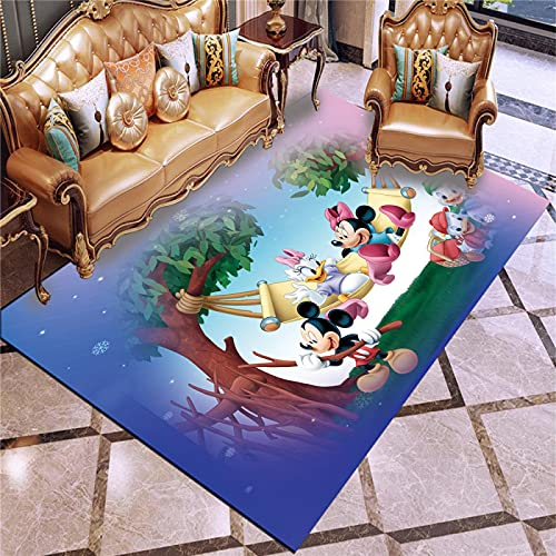 Misszhang Carpet Area Rug Printed Floor Mats Cartoon Mickey Mouse Not-Slip Soft Floor Mat Home Decor Rugs (A2789) 160X230Cm