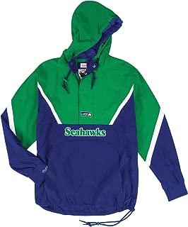 Mitchell & Ness Seattle Seahawks NFL Men's Anorak 1/2 Zip Pullover Jacket