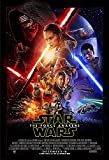 Movie Poster Star Wars 7 : The Force Awakens (2015) - Main - 13 in x 19 in Flyer Borderless + Free 1 Tile Magnet