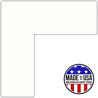 16x20 Polar White / Porcelain Custom Mat for Picture Frame with 12x16 opening size (Mat Only, Frame NOT Included)
