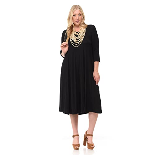 Plus Size Black Midi Dress Amazon