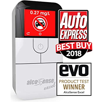Sunday Times 5 STARSImpressively Accurate /& Auto Express 2018 Recommended Rating AlcoSense Pro Fuel Cell Breathalyser//Breathalyzer /& Alcohol Tester