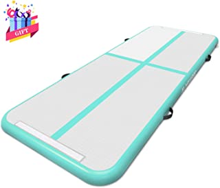 MaxKare Inflatable Gymnastic Air Track Mat 10ft Gymnastics Tumbling Mat Air Mat with Electric Air Pump for Home Use (10ft)