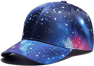 GTSDYFV 3D Printing Baseball Hip Hop Street Style Cap Hat Rapper Outer Space Galaxy Caps Street Dancer Dance Men