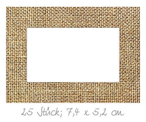 25 cadeaustickers JUTE beige natuur bruin 7 x 5 cm wit naamstickers naametiketten etiketten huishoudsetiketten etiketten glazen flessen beschrijfdozen naambordjes zelfklevende verpakking