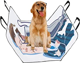 VNASKL Dog Seat Cover Custom May 31 2019 Caricature Drawing Printing Car Seat Covers for Dogs 100% Waterproof Nonslip Durable Soft Pet Car Seat Dog Car Hammock for Cars Trucks SUV