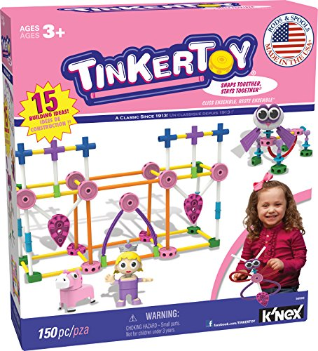TINKERTOY Pink Building Set...