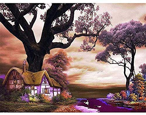 1500 Pieces Wooden Jigsaw Puzzle Adult Children's Classic Puzzle Leisure Game Toys for Cottage Cornwall London S 3D View of The House On The Prairie Very Challenging Family Decorations Unique Present