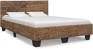 vidaXL Rama łóżka rustykalnego, łóżko podwójne, łóżko do sypialni, rama łóżka, mebel do sypialni, łóżko małżeńskie, rattan...