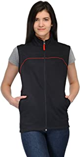 Scott International Sleeveless Jacket Women's withzip Black